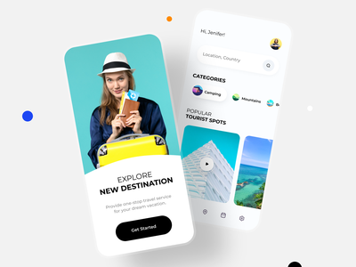 Travel Concept App app design ui ios mobile app travel mob