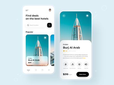Hotel Booking App travel mobile app mobile booking app top design ui ux design best design hotel booking app