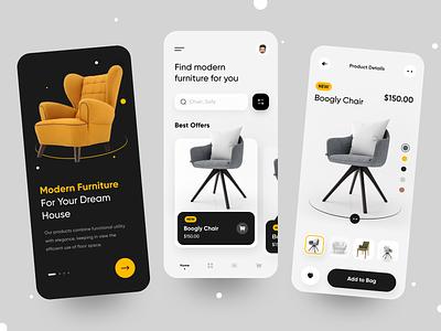Furniture - App Design new mobile app dream house sofa armchair ecommerce app modern minimal ui design furniture app