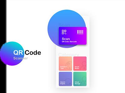 QR code scanner iphonex colorful modern design scan qr code mobile app app scanner barcode qrcode