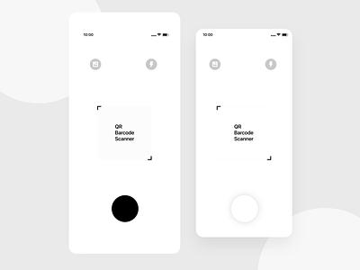 QR and Barcode Scanner App Design unique pdf mobile app android ios iphonex ui classy color modern minimal elegant design clean barcode qr scanner
