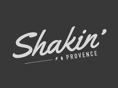 Shakin Provence logo logotype pushaune typography typo
