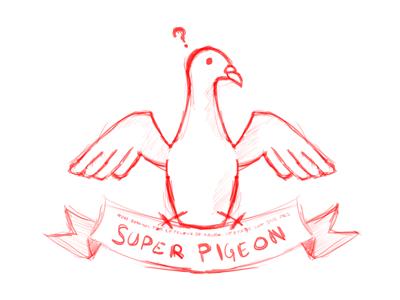 Super Pigeon pigeon pushaune illustration