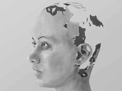 Empty illustration empty face