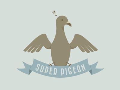 Super Pigeon Colo super pigeon pushaune illustration