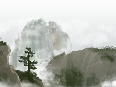 Stand Alone illustration yellow mountain