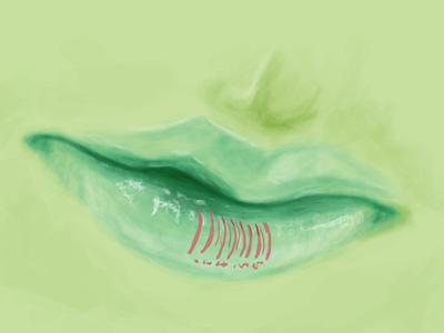 Blue Lips lips blue pushaune illustration