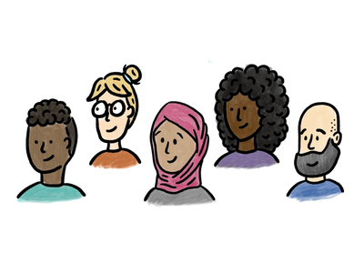 Inclusive Design Advocacy avatars characters blog ux person team people illustration inclusive design inclusion diversity people illustration