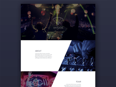Exitpost Landing Page  web landing website edm music logo ui interface landing page web design design