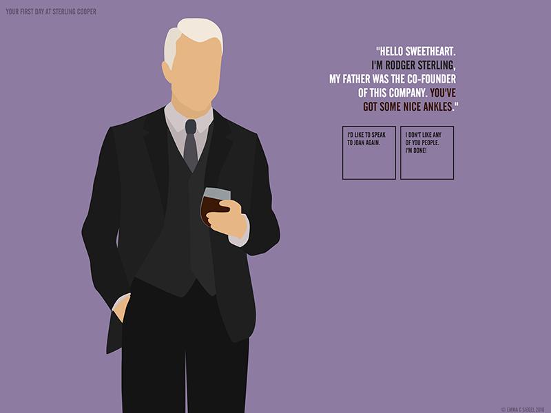 Roger Sterling - Mad Men Adventure suit purple roger sterling mad men design website illustration