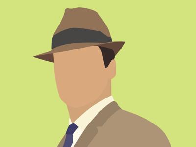 Don Draper - Mad Men Adventure dick whitman fedora amc suit green don draper mad men design website illustration