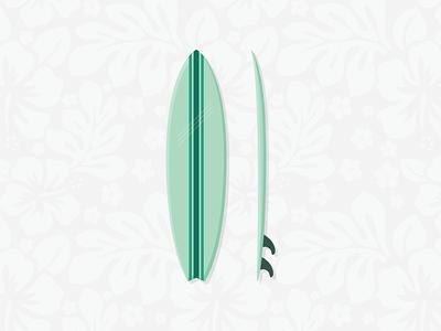 Surf's Up! surfing surfboard surf hawaii illustration