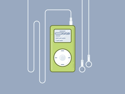 iPod Mini music green headphones apple tbt ipod mini ipod