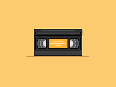 VHS Tape movie shaddow technology tech icon illustration tape vhs