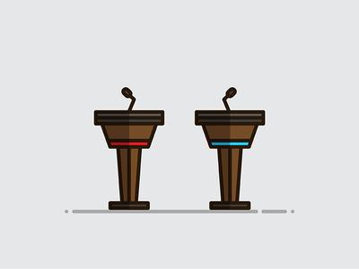 Debate Podiums podium illustration vote politics debate
