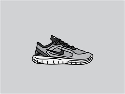 Nike Sneaker exercise running nike sneaker illustration