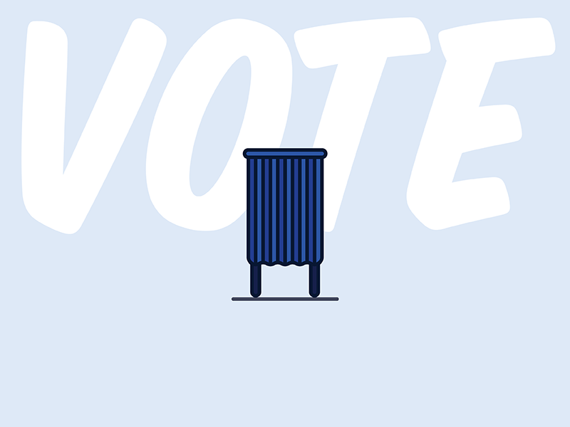 Voting Booth voting election day president usa ballot 2016 america illustration vote election