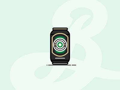 Beer Can #1: Brooklyn Lager can lager brooklyn lager brooklyn beer can beer illustration