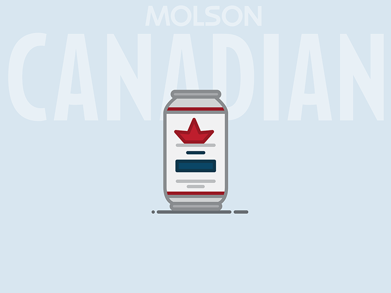 Beer Can #2: Molson Canadian Lager lager canada canadian molson beer can beer illustration