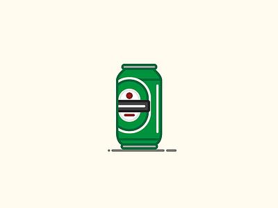 Beer Can #3: Heinekin ale bottle lager heinekin beer can beer illustration