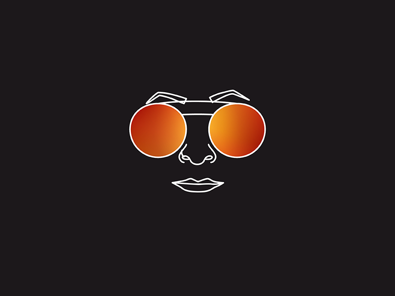 Sunglasses #3 fashion style brand icon black sunglasses glasses illustration