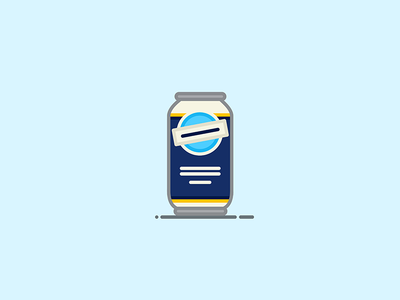 Beer Can #4: Blue Moon wheat ale bottle lager blue moon beer can beer illustration