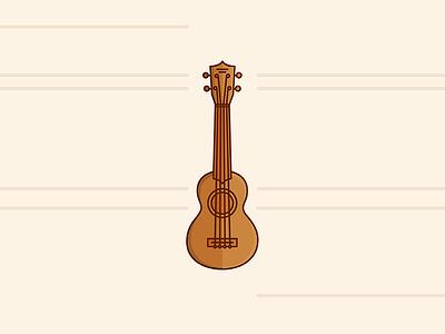Ukulele lines abstraction art vector icon uke hawaii guitar music ukulele illustration
