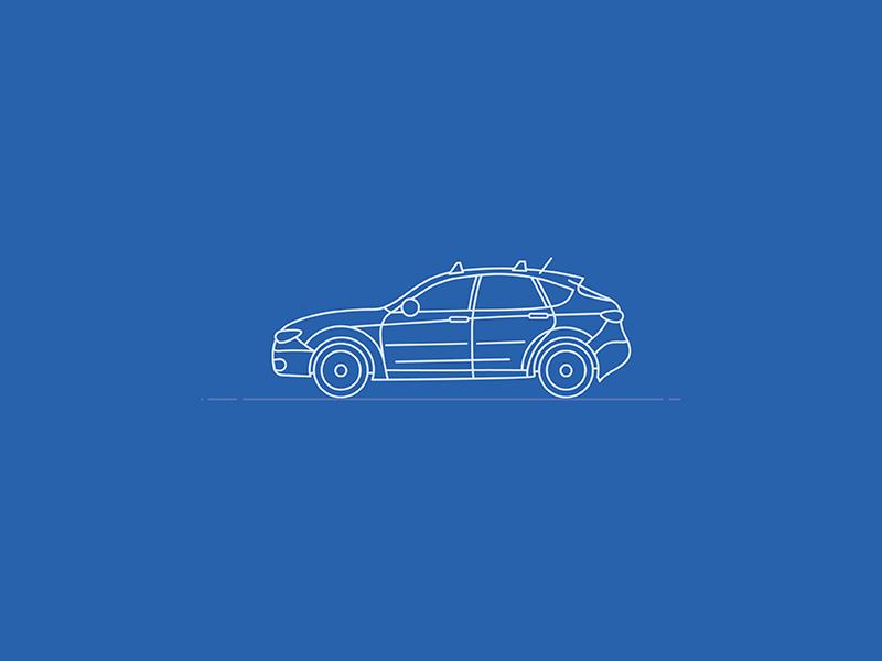 2011 Subaru Impreza Outback Sport Blueprint ux control empowerment sport drive outback impreza suv blueprint subaru car illustration