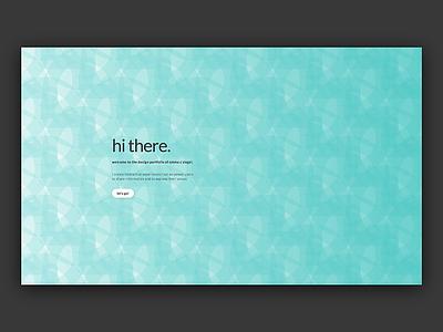 Portfolio Landing Page web design web landing portfolio ui visual design ux interaction design landing page