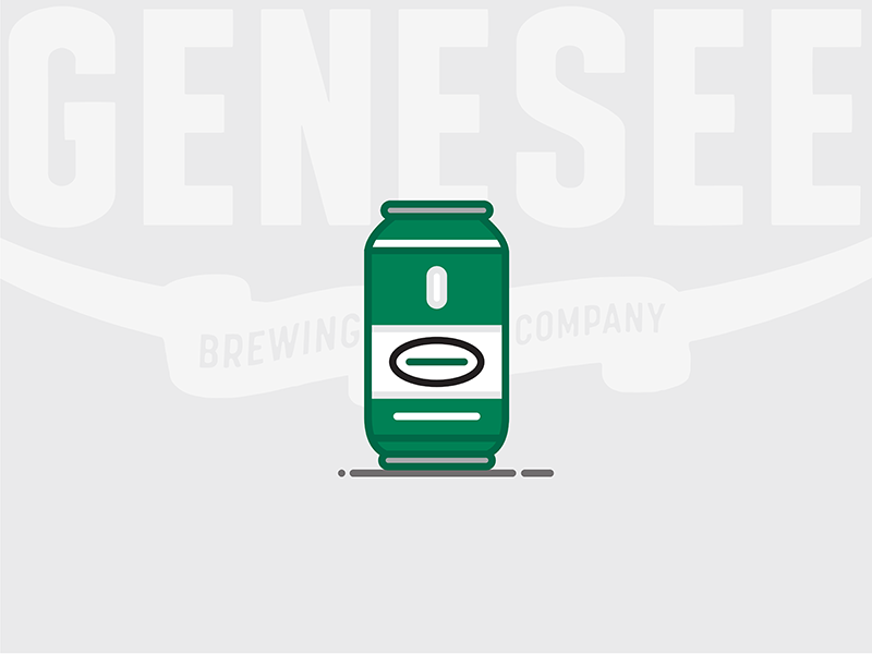 Beer Can #5: Genesee Cream Ale new york cream ale ale bottle lager genesee beer can beer illustration