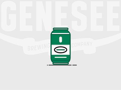 Beer Can #5: Genesee Cream Ale new york cream ale ale bottle lager genesee beer can beer illustration