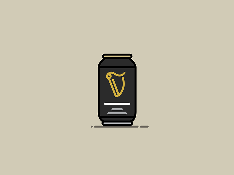 Beer #6: Guinness gold black guinness irish stout ale bottle lager beer can beer illustration