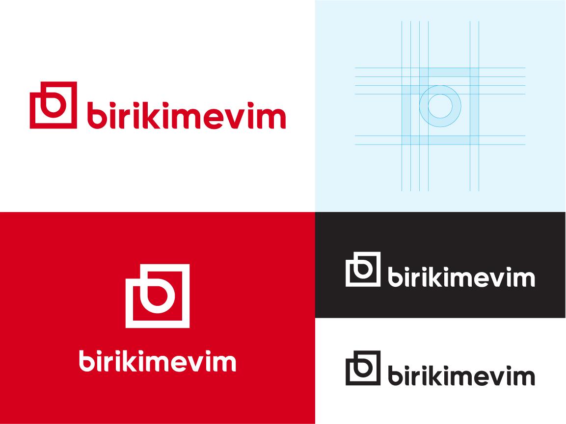 Birikimevim typography graphics illustration concept branding clean identity logo