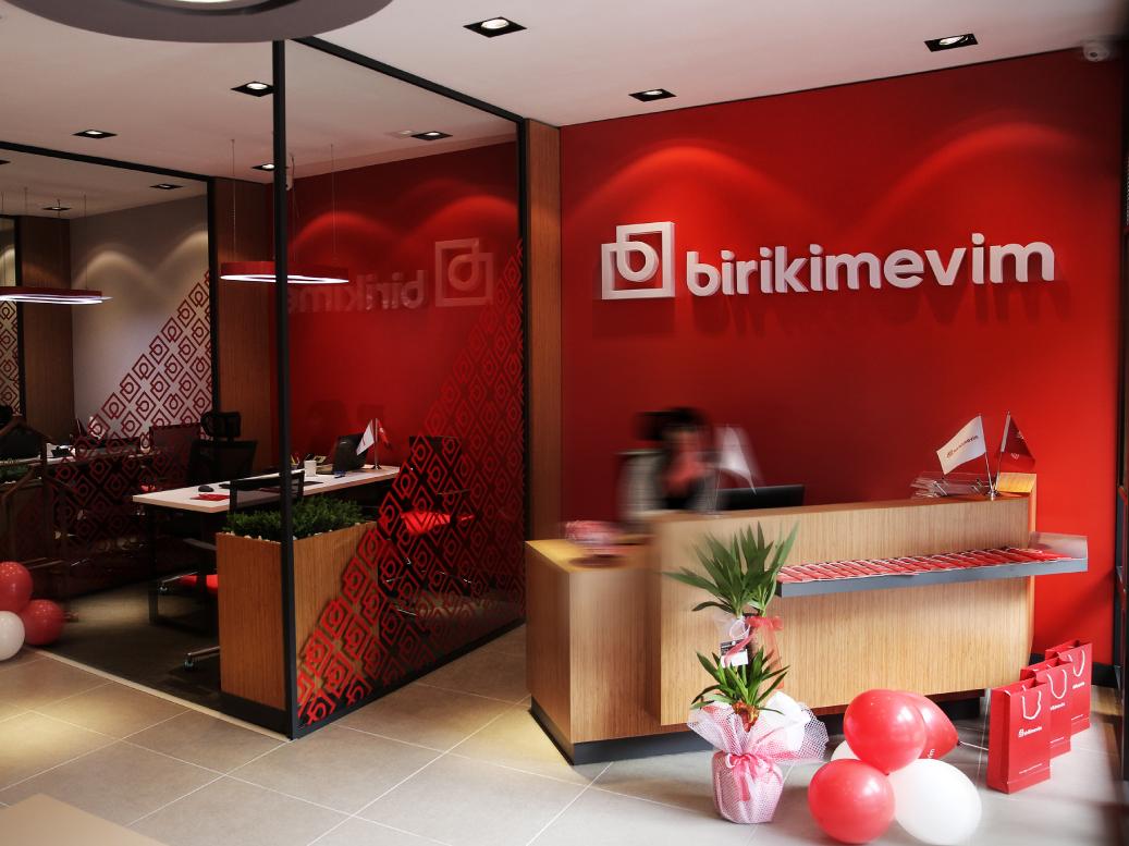 Birikimevim Office logo identity branding