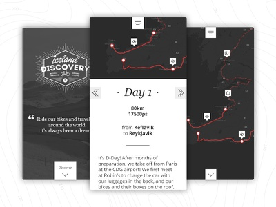 Iceland Discovery interface direction art logotype diary design graphic map ui mobile webdesign responsive