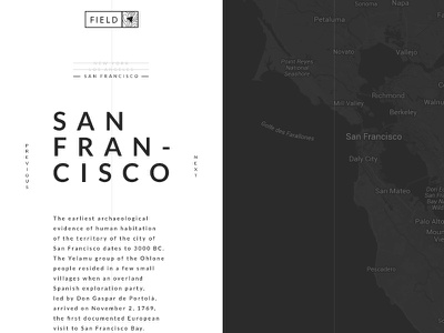Field webdesign logo usa diary travel map art direction ux ui