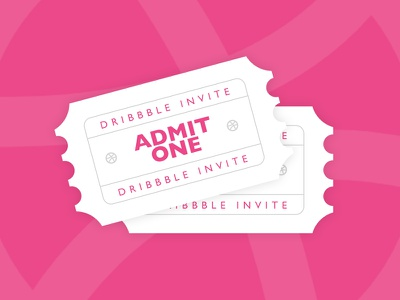 2x Dribbble Invite pink invitation dribbble invite