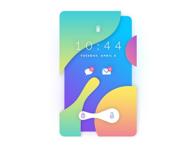 Lock Screen color gradient phone lock screen screen graphic design ui mobile