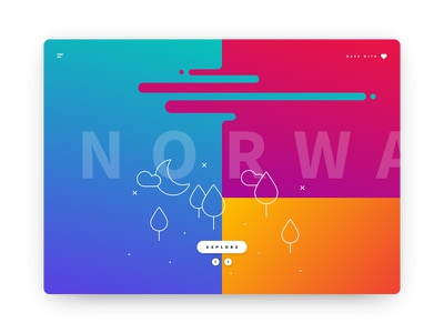 Norway gradient webdesign diary travel art direction ux ui