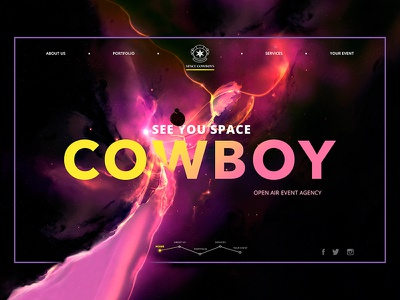 Event Agency Webpage  webpage webdesign concept bright space agency event homepage landing ux ui web