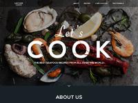 Seafood recipe website landing tubik studio