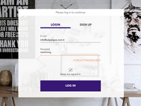 Daily UI Day 001 Login Form