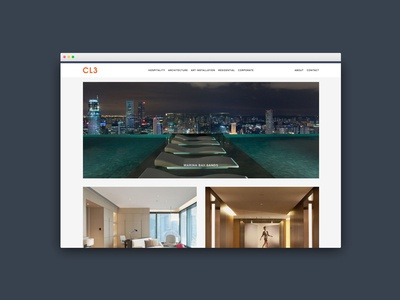 CL3 Architects, Hong Kong (Web Design, Social Media)
