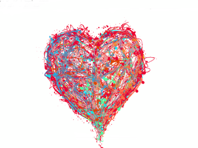 Interconnected Heart design fragmentsofmymind logo doodle tablet art graphic abstract sketch drawing illustration