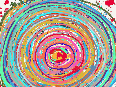 The Vortex II tablet sketch painting illustration graphic doodle fragmentsofmymind background art expressionism abstract surreal drawing