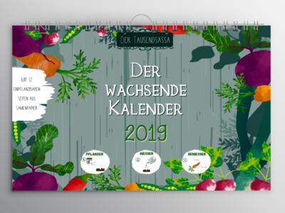 "Calendar Cover for a ""Growing Calendar"""
