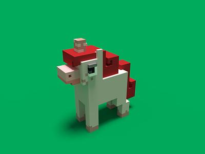 Unicorn fantasy animals unicorns magicavoxel voxel art voxels 3dmodels 3d
