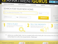 Apartment Search Page