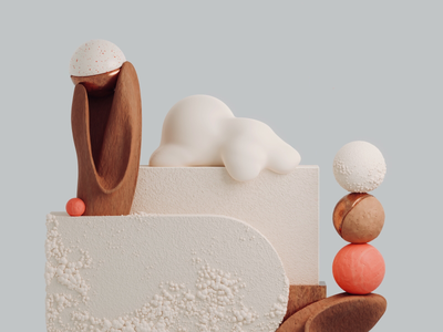 🍰 clay sculpting 3d render abstract art direction