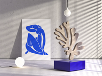 Henri Matisse: The Cut-Outs loop light shadows houdini art matisse morphing morph render illustration 3d animation motion
